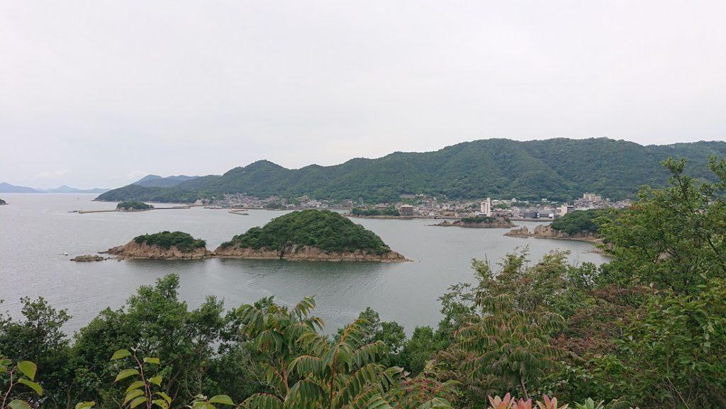 仙酔島の赤岩展望台